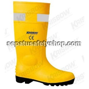sepatu safety krisbow boots yellow pvc